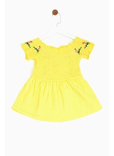 BG Baby Kız Bebek Sarı Elbise 19SS1BG2916 Sarı